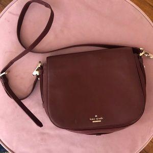 Kate Spade Burgundy Red Crossbody bag - Leather